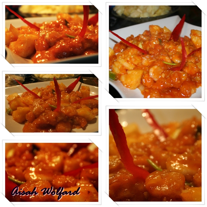 udang asam manis or sweet and sour shrimp