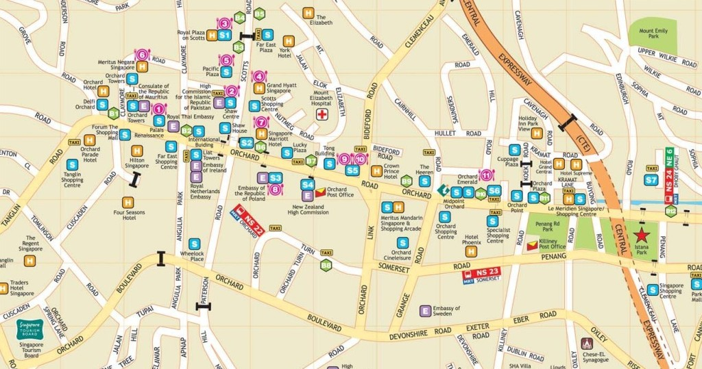 Singapur Stra enkarte – Tourist Map Of Singapore City