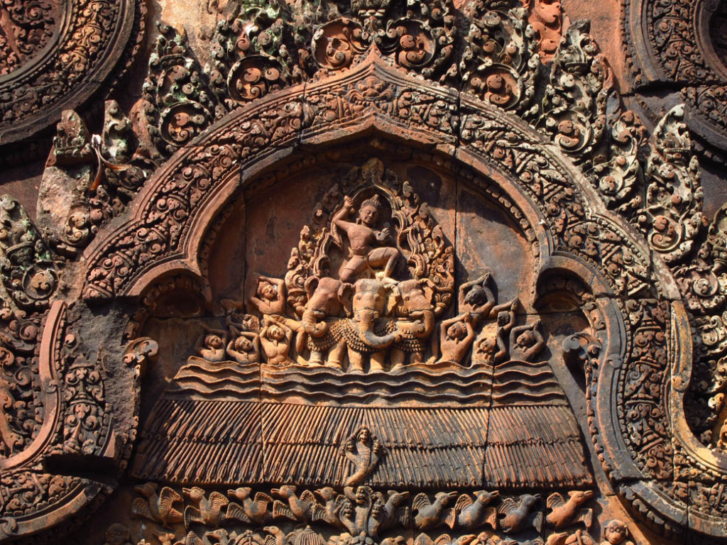 Banteay Srey Carving, By: Vijay Khurana