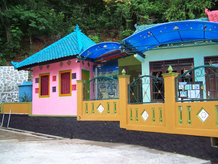 colorful school built with the help of the Tileng foundation