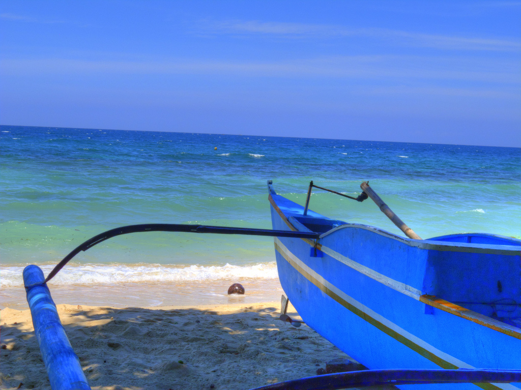 Davao beach life in blue, By: Edward Musiak