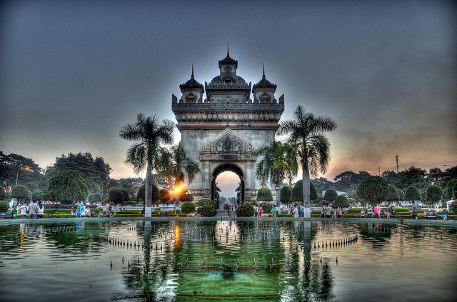 Patuxai, Vientiane's most well known landmark, By: Robert lowe