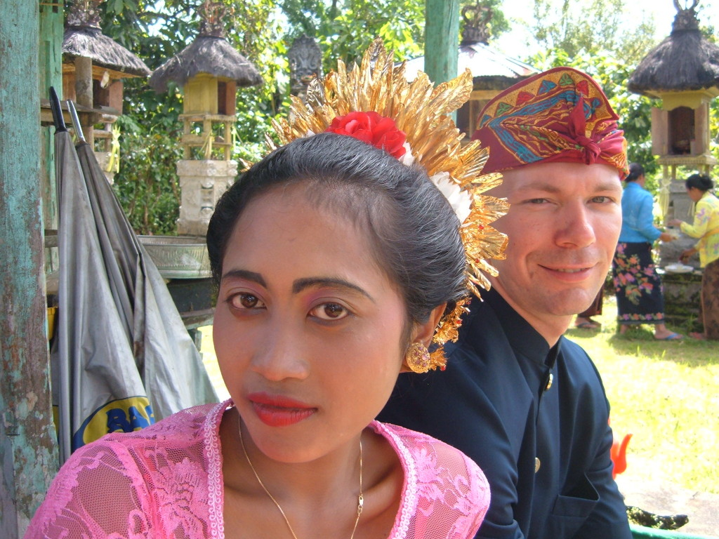 Gerard and Komang on Bali