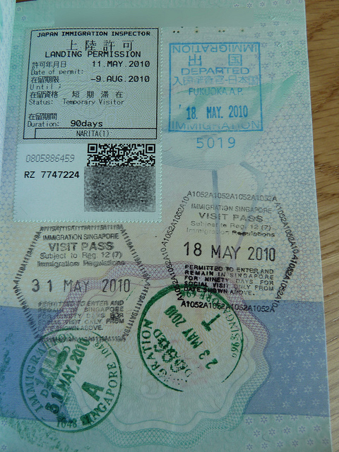 Singapore Visa Stamps, By: Mroach