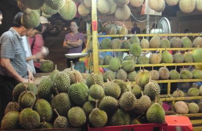 durian stall Jalan Alor