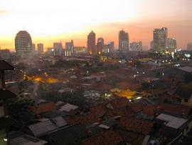 a Jakarta sunset