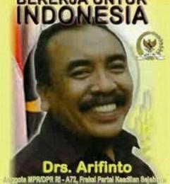 Arifinto in happier days