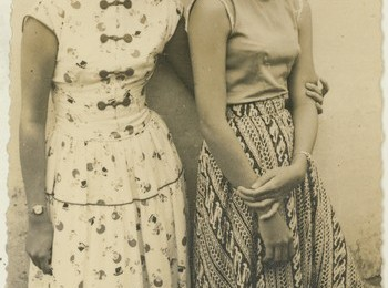 Early days at the University of Indonesia: Lien (on right) with one of the