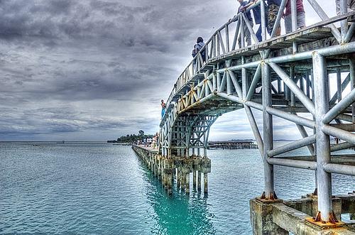 Bridge connecting Pulau Tidung and Pulau Tidung Kecil