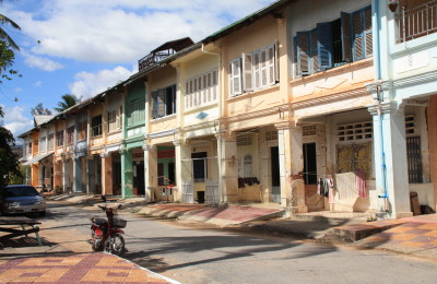 French colonial houses in Kampot