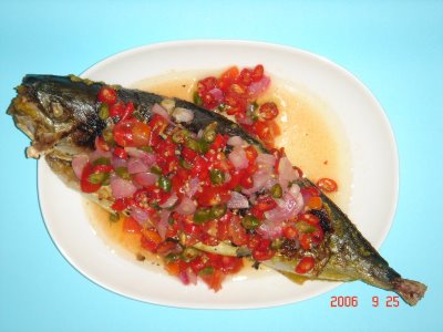 Grilled Fish With Dabu Dabu Sambal