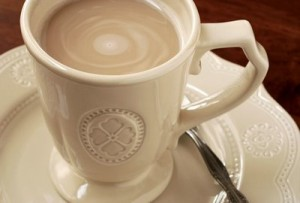 A cuppa white coffee