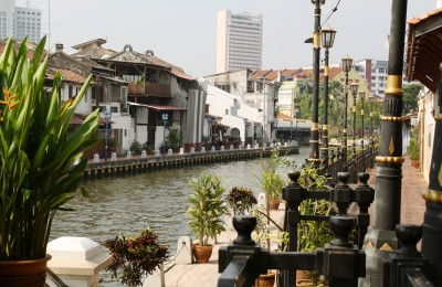 The quaint canal running through Melacca, By: Gabrielle Yetter