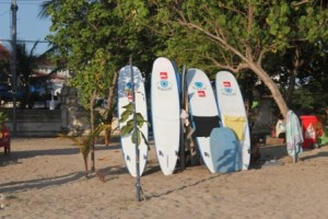 Surfboards for rent on Kuta beach, By: Prima Ayu