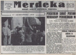 The news about the Proclamation of Independence in February 1946