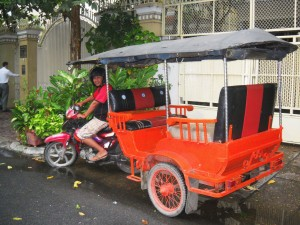 For $2-$3 a trip, you can ride in a tuktuk from one end of the town to the other, By: Gabi Yetter