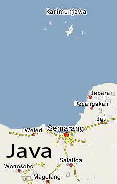 Karimunjawa map central Java