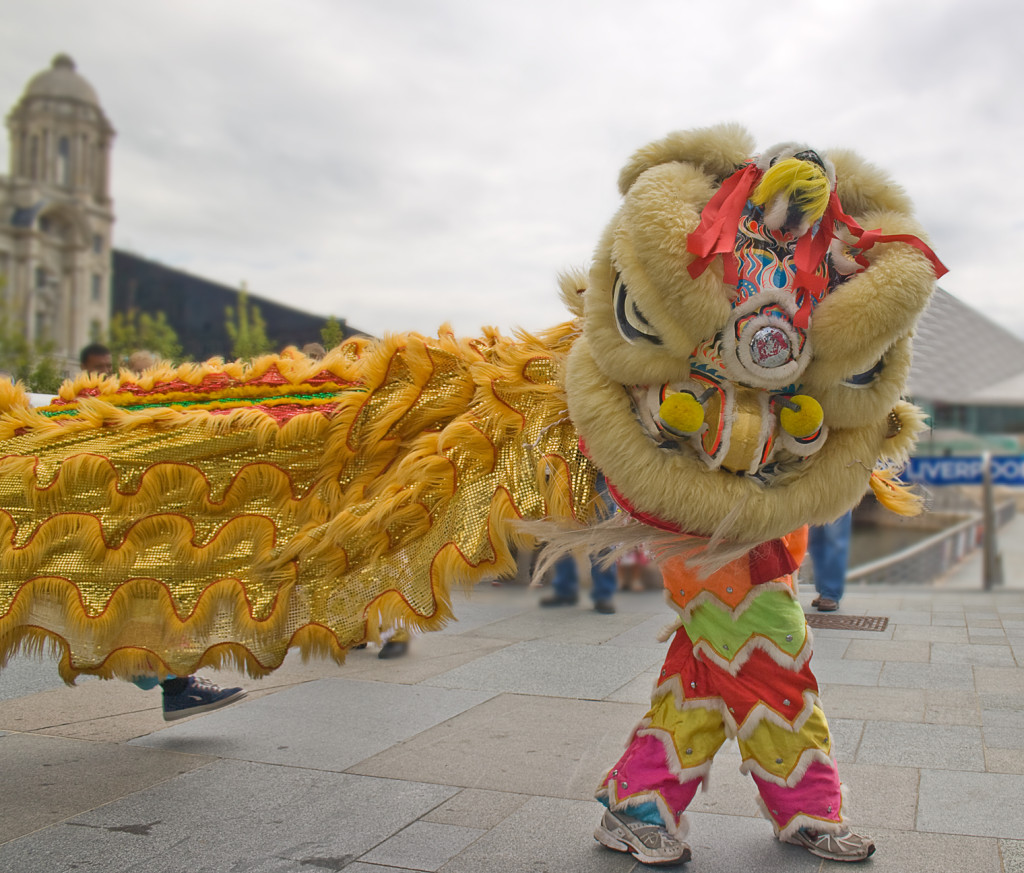Lion dance, By: Tim Fields