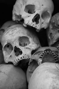 Skulls found on the Killing Fields of Choeung Ek, By: Bruno Ideriha
