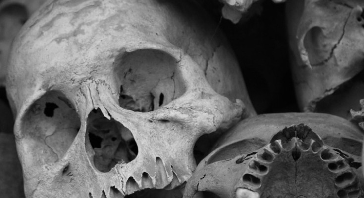 Skulls found on the Killing Fields of Choeung Ek, By: Bruno Ideriha