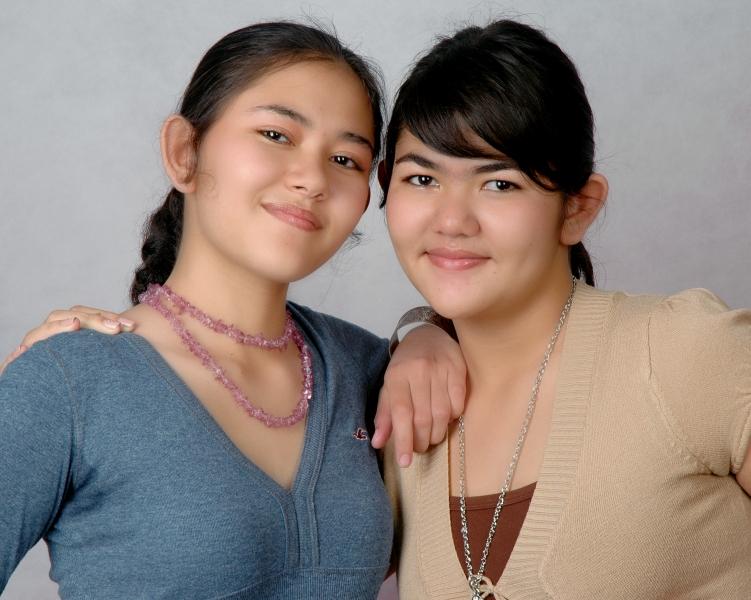 Amba (left) and Bika