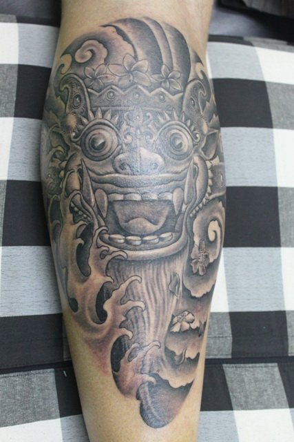 bali touch a barong tattoo by rudi