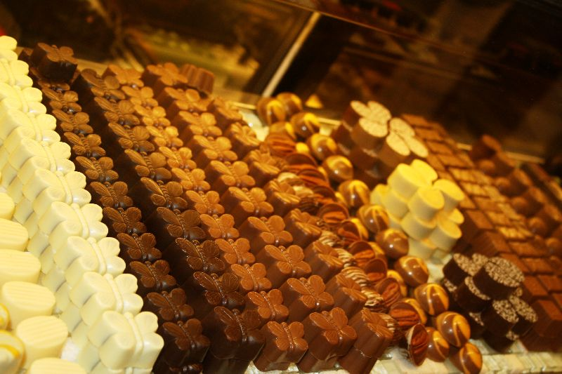 Row & rows of chocolate, By: Gabi Yetter