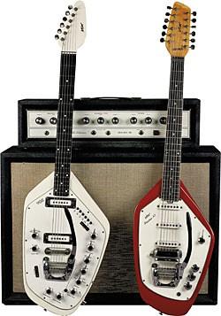 Vox organ guitar and 12 string electric mandolin guitar: