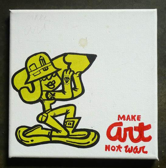 Shieko Reto says: Make Art not War!