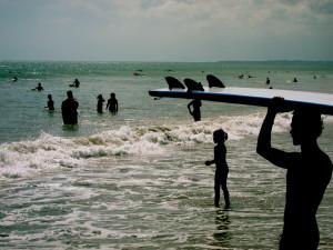 Busy Kuta beach, By: Chris McAtominey