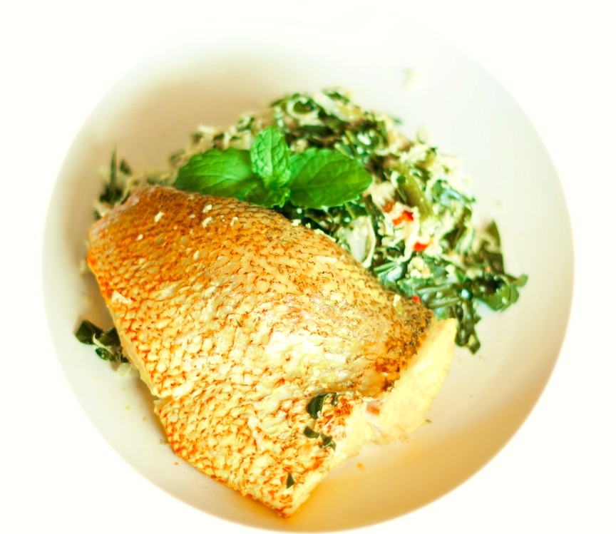 Red Snapper with Urap