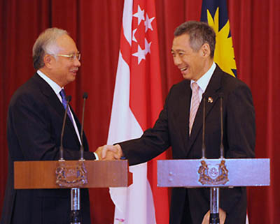 Najib Razak and Lee Hsien Loong, By: PMO