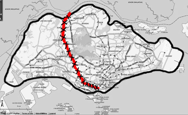 The extent of railway land in Singapore previously owned by Malaysia before the new agreement of May 2010, By: Epitommy
