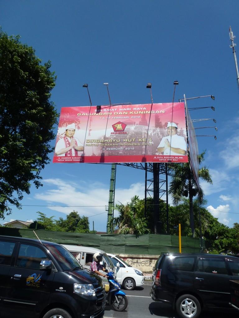 The massive billboard of Gerindra, By: Sita van Bemmelen