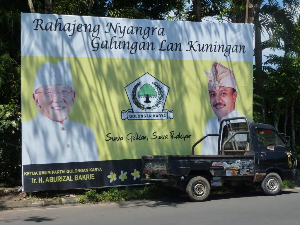 The Golkar's surprisingly modest billboard, By: Sita van Bemmelen