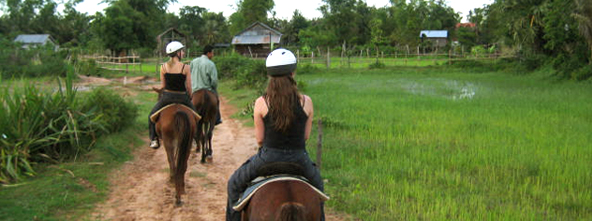 Explore Siem Reap's surroundings on horseback