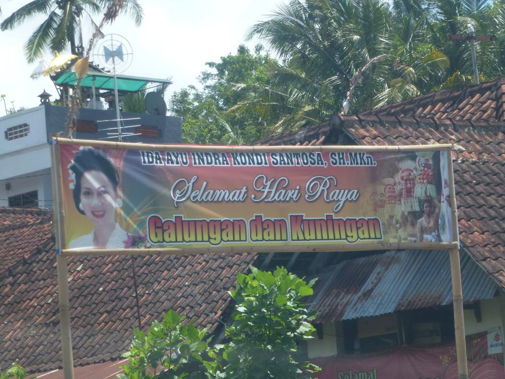 The billboard of Kondi without party affiliation, By: Sita van Bemmelen