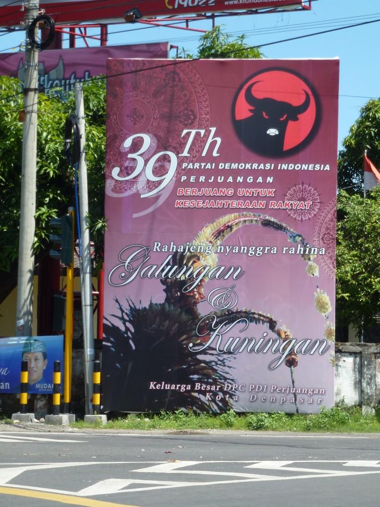 The billboard of Megawati's PDI-P, without party leaders, By: Sita van Bemmelen