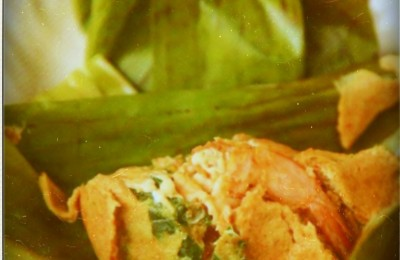 Otak-otak wrapped in banana leaf, By: Steven Lee