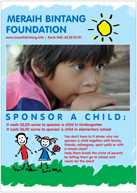 sponsor a child through school with Meraih Bintang