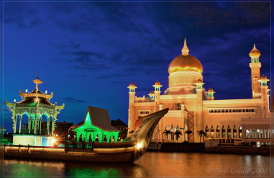 The royal Islamic mosque with a ceremonial ship, By: Neil Liddle