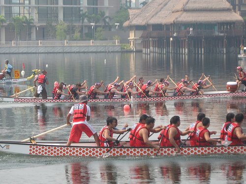Malaysians celebrating the Dragon Boat Festival, By: Graham Hills