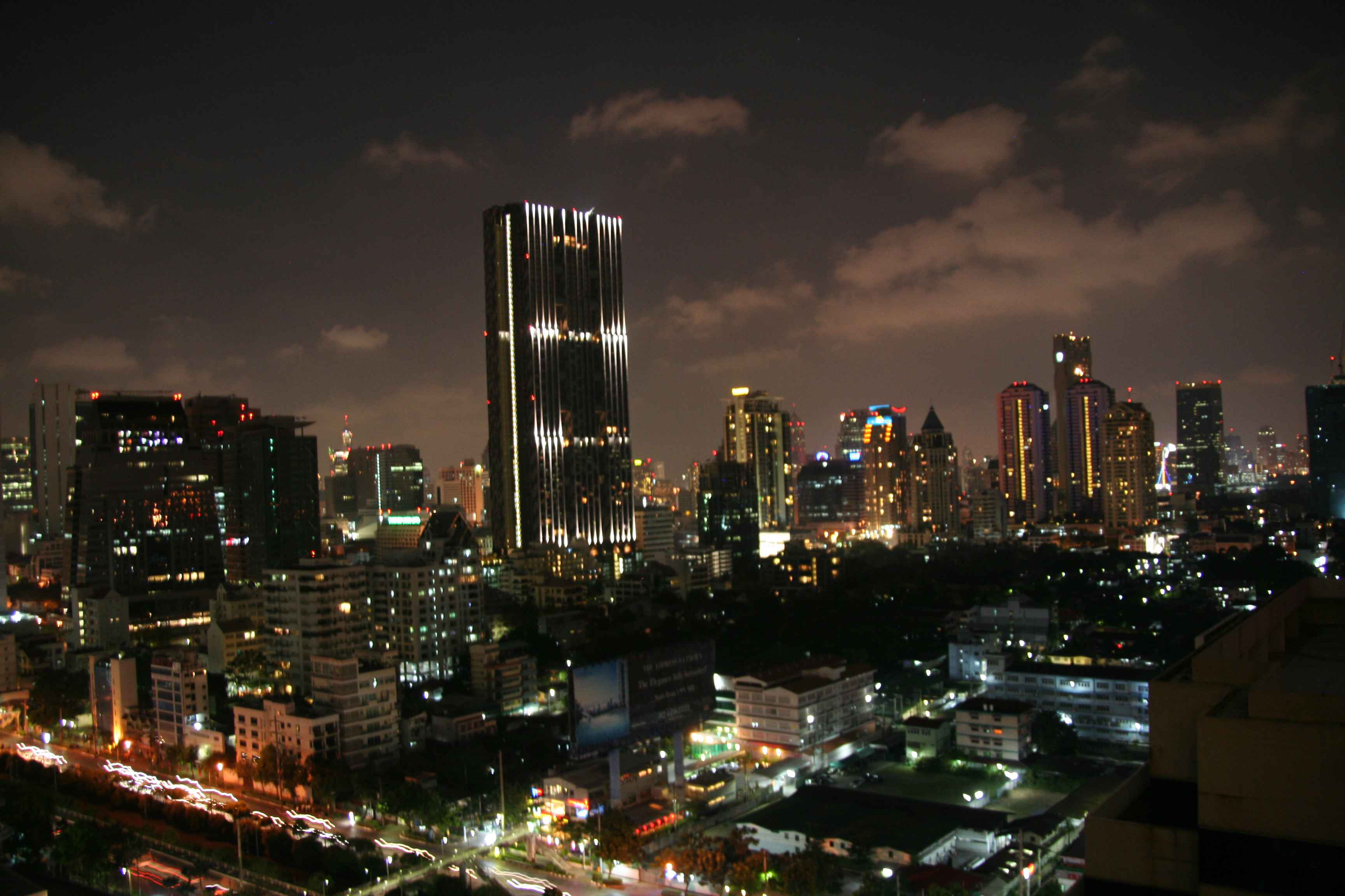 Sathorn Bangkok by night, By: Isaac Olson