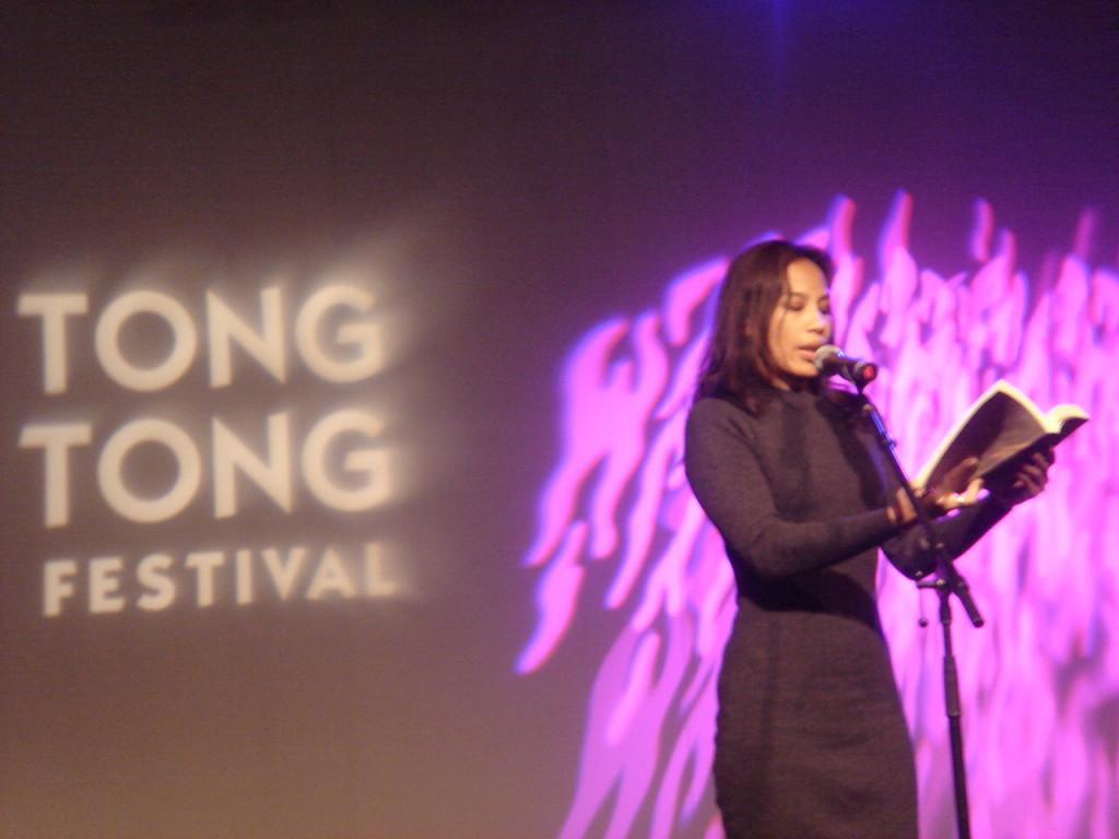 Ayu Utami at the Tong Tong Fair 2012, By: Yvette Benningshof