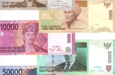 Indonesian Rupiah notes: colorful & with a lot of zeros!
