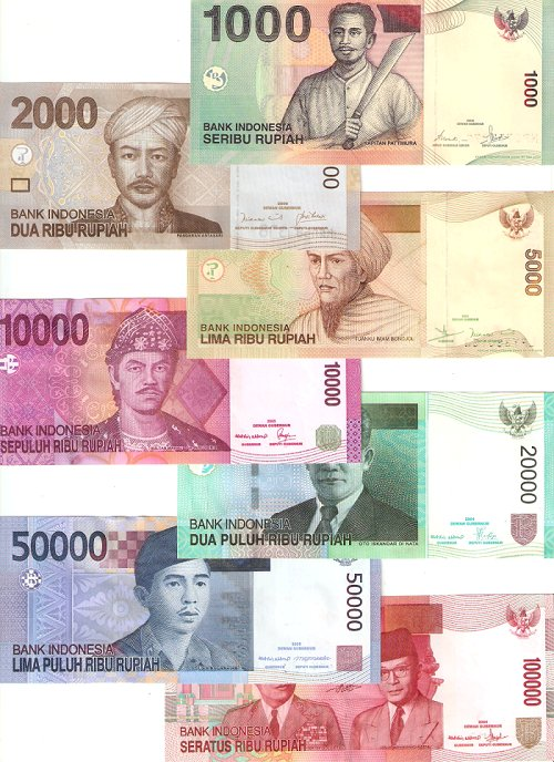 Indonesian Rupiah Notes Colorful With A Lot Of Zeros