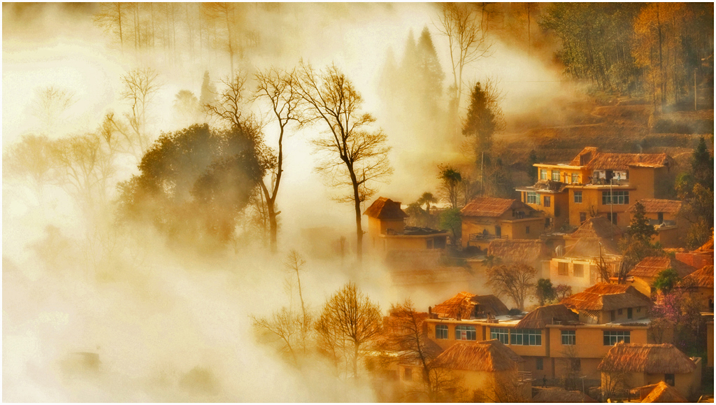 Fairy Tale Mountain Village, By: Lin Jianhua (China)