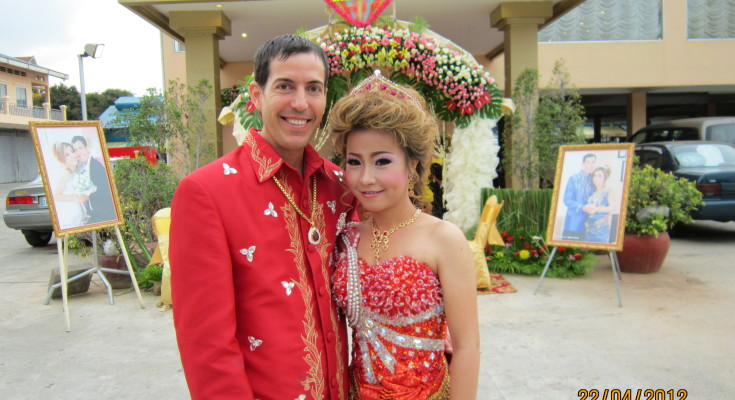 Tommy and Leakshmy on their wedding day