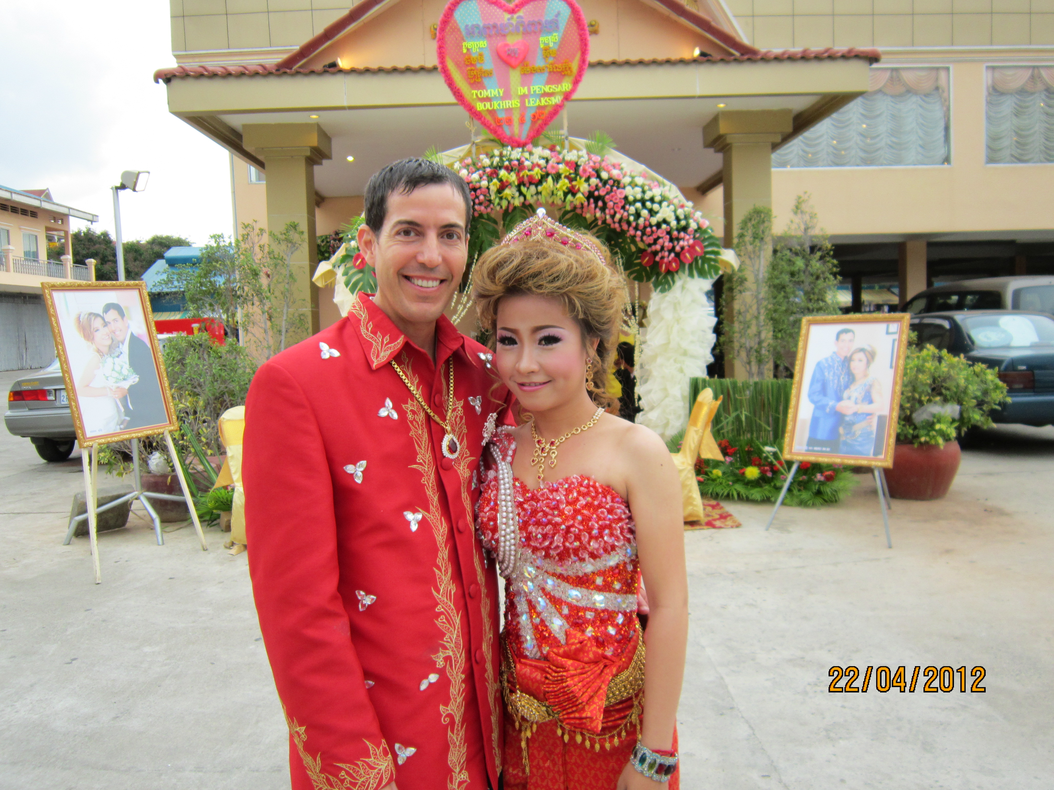 Tommy and Leaksmy on their wedding day