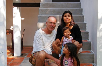 Family photo in Siem Reap